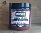 Eczema Cream- Oatmeal & Honey Shea Butter NATURAL UNSCENTED- ORGANIC Oils/ Healing Manuka Honey
