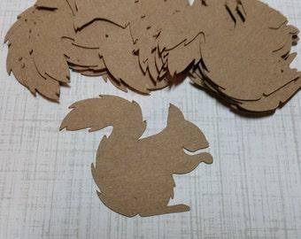 Die cut Squirrels, Made with KRAFT Cardstock.  #LO-1
