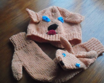 Fun Hat and Puppet Mittens