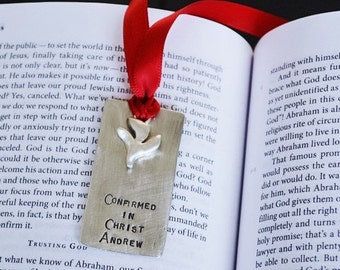 Sacraments Confirmation Bookmark in Pewter - Confirmation Gift