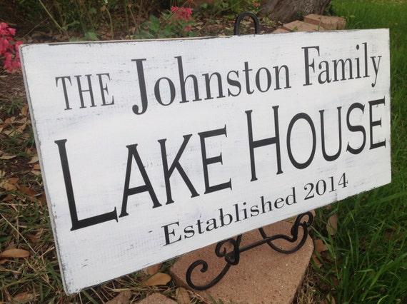 Items similar to lake house sign lake house decor lake for Lake themed decor