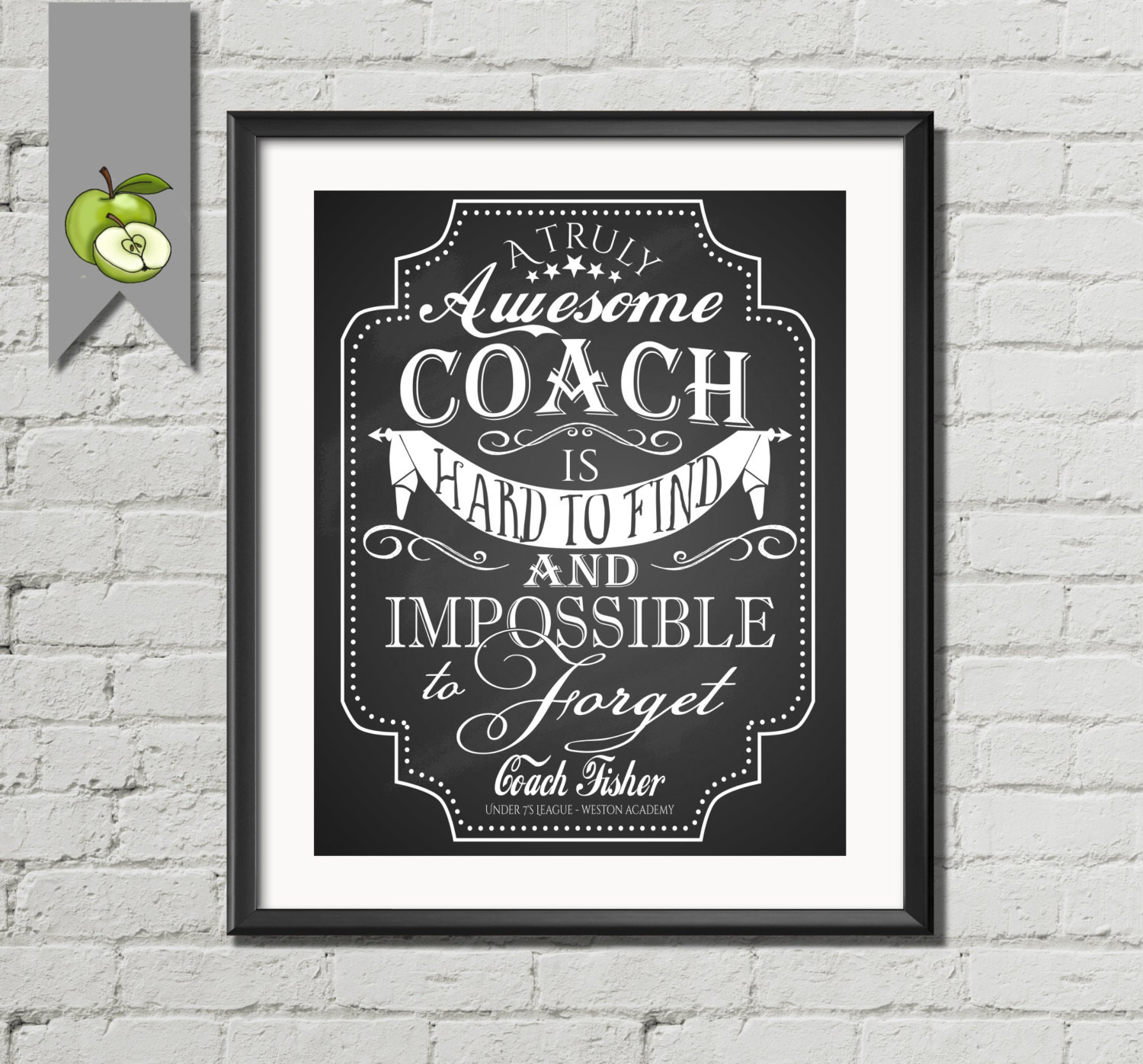 .5 x 7 coach appreciation thank you card printable instant
