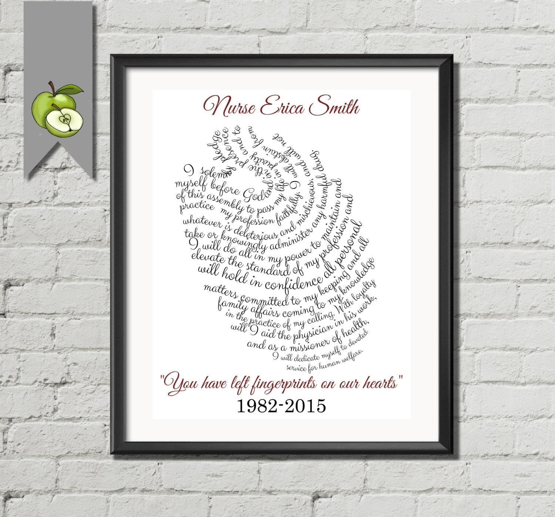 Nurse Appreciation art print You left fingerprints on our