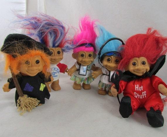 1990s Troll Dolls 5 russ troll dolls president