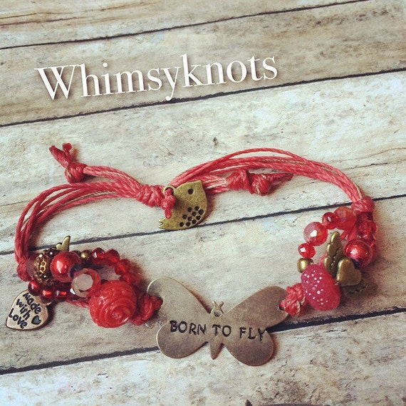 Butterfly Stamped bracelet. Personalized, Hand-Stamped Jewelry