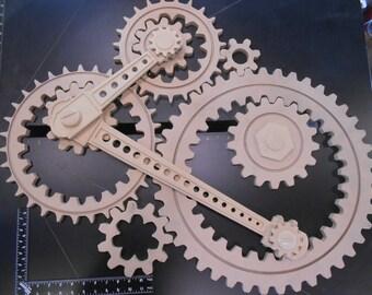 Working Gears Wood Gears Gear Wall Kinetic Art Steampunk
