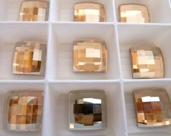 Swarovski elements Chassboard/8 mm/Crystal Golden shadow