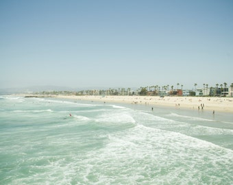 California Ocean Photography, Venice Beach Art Print, Beach Print, Los Angeles Print, Ocean Art, Venice Beach Print, Summer, Large Wall Art