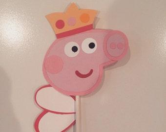 Peppa pig decorations, Peppa pig birthday party, Peppa pig fairy cupcake topper