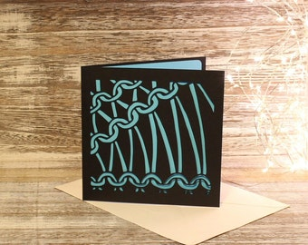 Papercut and knitting card