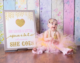 sparkle and shine, Birthday prop, photo prop, Princess sign, chalk board,  sign, first birthday, surprise