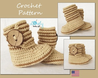 Crochet Pattern, Baby Boots  Pattern Crochet, Shoes Crochet Pattern, Ugg Boots, Instant Download, CP-207