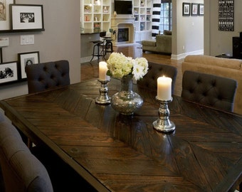 Chevron Dining Table