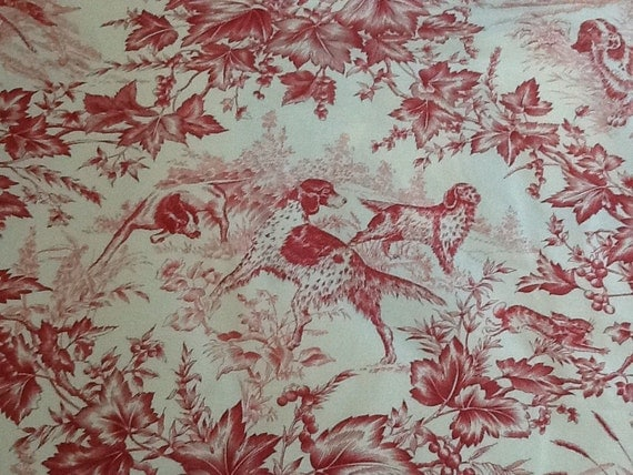 20x20 Brunschwig & Fils Birds Dogs Hunt Toile with Welt Trim  Pillow Cover