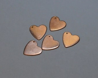 Copper Hearts Stamping Supply 3/4 inch /20 mm