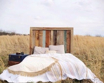 Check out our reduced pricing! Rustic Barnwood Headboard -Engagement Collection