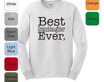 Best Granddaughter Ever Long Sleeve T-Shirt 2400 - FA-199