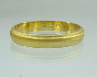 Wedding Band, 22K ring, ,Recycled gold, Wedding Band, Made To Order  ring,man,men,gold ring