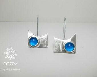 Ocean Blue Sterling Silver Earrings
