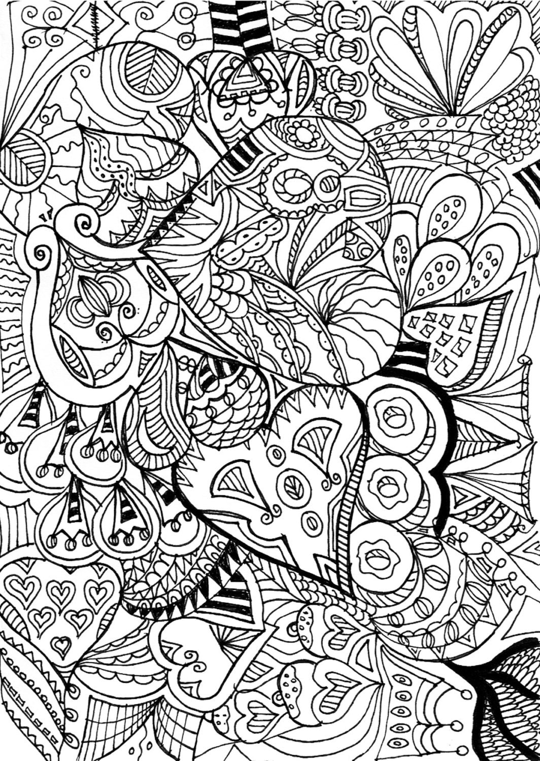 shelly beauchamp zen tangles coloring pages | Zentangle coloring page