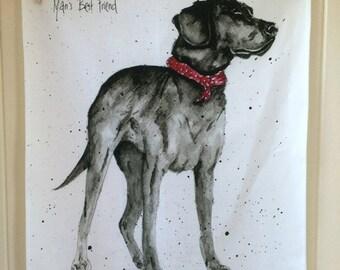 Man's Best Friend Labrador Tea Towel