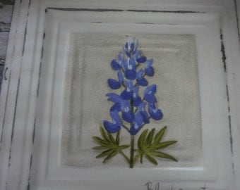 Beautiful Hand Painted Hydrangea Painted on Metal Tiles Vibrant Colors Wall Hangings