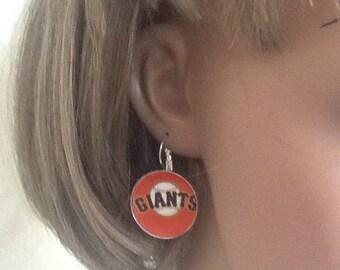 San Francisco Giants baseball leverback earrings,free shipping