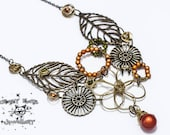 Autumn Circles Necklace and Earring set