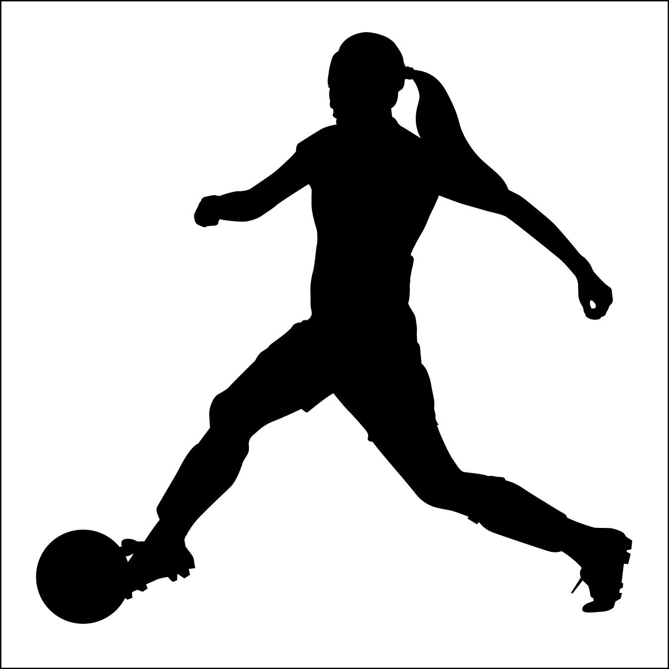 instant download girl soccer player 001 futball 1 vector eps Football Player Tackle Clip Art cartoon football player clipart