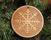 Xmas Ornaments - Wooden Christmas Decoration - Snowflake Ornaments - Wooden Ornaments