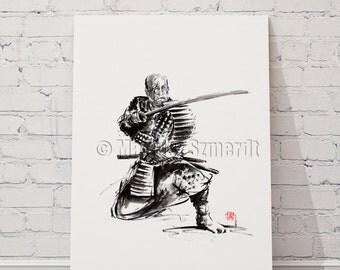 Samurai, art print, samurai sword, japan poster, japan, photography, japan style, japan wall decor, samurai poster