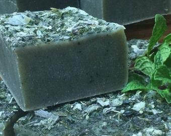 Peppermint-Sage Soap Bar