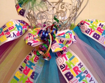 Happy Birthday Tutu Ready2Ship  Perfect for first birthday photo or baby shower gift!