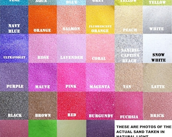 Unity Sand Samples ~  Includes 10% Discount coupon code for Sand Purchases ~  Over 150 colors to choose from