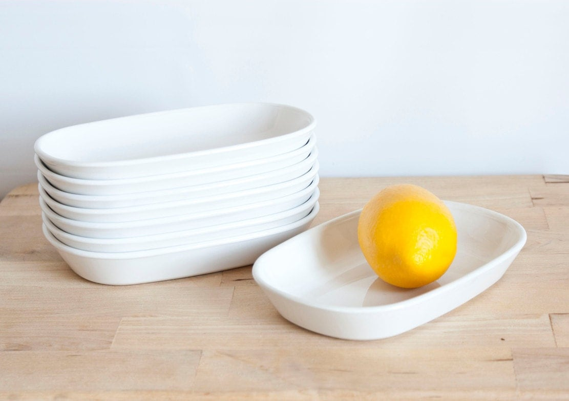 Corning Ware Sidekick Snack Plates White Coupe Microwavable