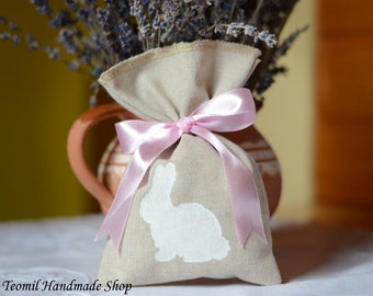 Easter Treat Bags, Burlap Easter Bags, Baby Shower Favor Bags