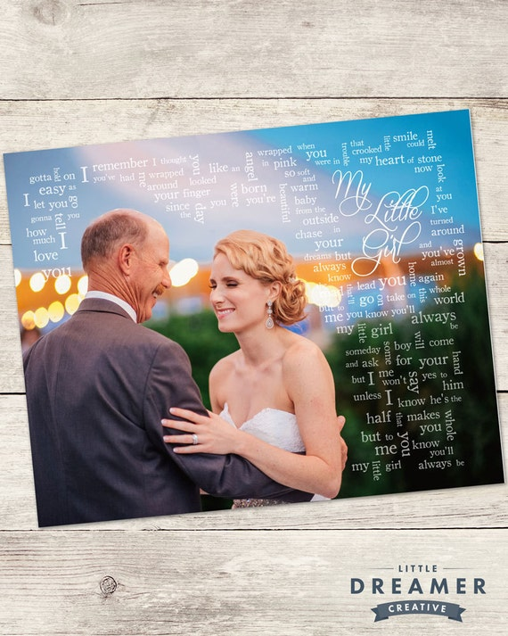 Wedding Song Lyric Art Father Daughter By LilDreamerCreative