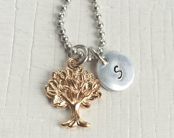 Golden Tree Personalized Necklace