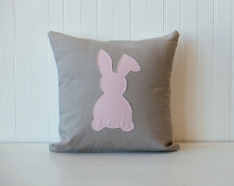 Soft pink Easter bunny pillow,  Nursery pillow, Baby Pillow, Decorative pillow, Home & Living, Home Decor