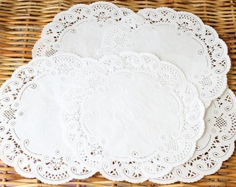 White Paper Doilies, White Doilies, 5 Inch Doily, Baby Shower, Wedding Doily, Packaging Supply, Paper Lace Doily, Rustic Wedding Decor