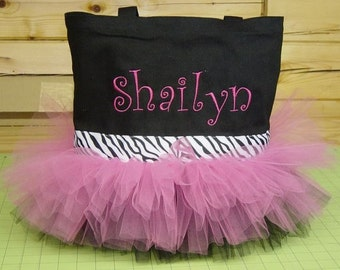 Personalized Bags for Girls, Dance bag, flower girl gift, girls tote bag