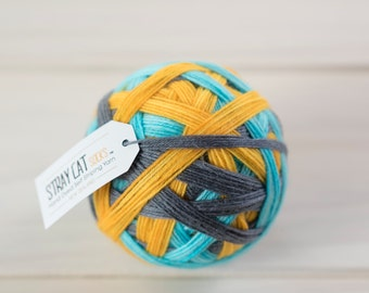 ELECTRIC AVENUE - hand dyed self striping sock yarn 75/25 superwash merino/nylon