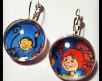 Comic Earrings - Recycled pippilongstocking Comic Book Paper earrings