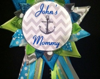 Anchor Chevron Mom to be / Bride to be button **colors changeable**