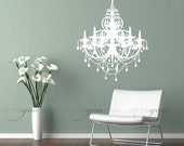 Chandelier Wall Decal - Living Room Wall Decal - Entranceway Wall Decal - Wall Stickers - Custom Decal Wall Graphics 13-0002