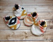 Aztec Tribal Soutwestern Baby Shoes, Baby Booties, Baby Moccasins, Crib Shoes, Baby Girl Shoes, Newborn Shoes, Soft Sole Shoes, Toddler