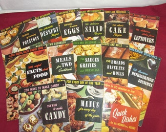 ENCYCLOPEDIA OF COOKING Culinary Arts Institute 14 volumes 1950 – 1955 Cookbook Collection