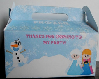 Faux Frozen Gable Party Favor Gift Boxes Set of 12