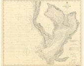 Tampa Bay - 1885 Nautical Map Reprint - Florida - 80000 AC Chart 177