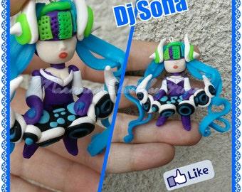 Handmade League of Legends Lol DJ Sona Pendant/Necklace